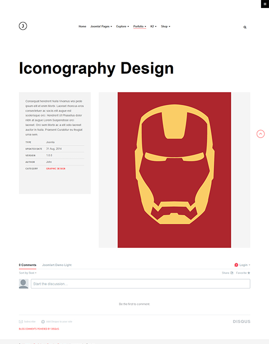 joomla portfolio template - JA Jason