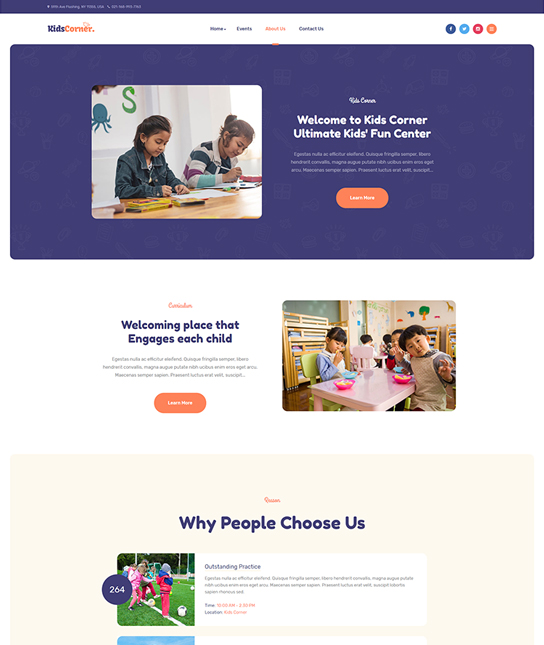 kids preschool Joomla template - JA Kids Corner