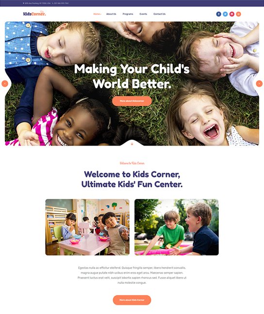Hotthemes kindergarten v3. 9. 0 template childrens educational.