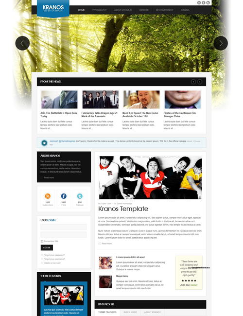 joomla template for business - JA Kranos