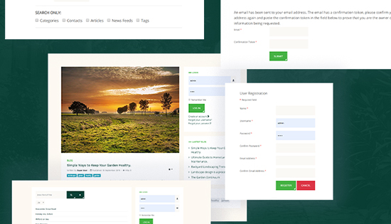 landscaping joomla template default pages