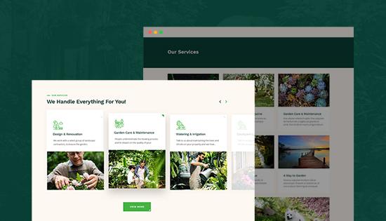 gardening services joomla template