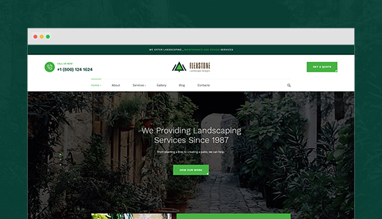 landscaping services joomla template