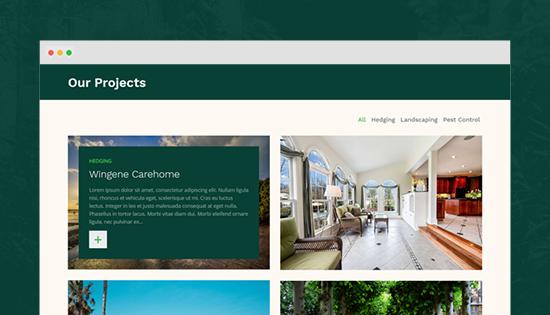 portfolio landscaping joomla template
