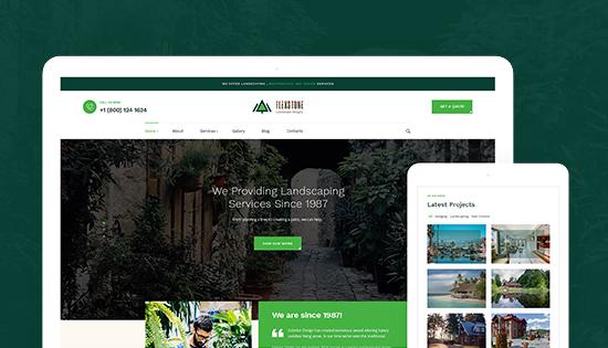 responsive landscaping joomla template
