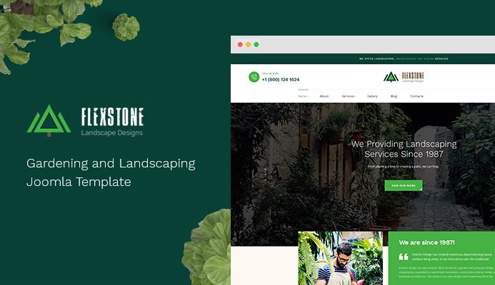 Review | Features : Gardening and Landscaping Joomla template : JA Landscape