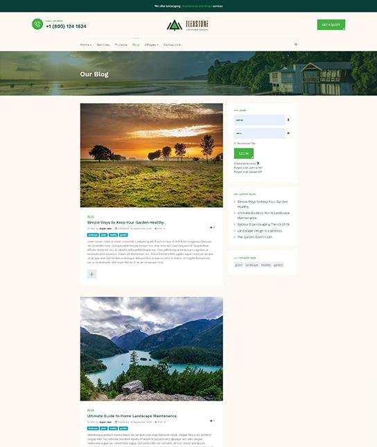 blog landscape joomla template - JA Landscape