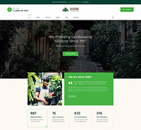 Gardening and Landscaping Joomla Template - JA Landscape