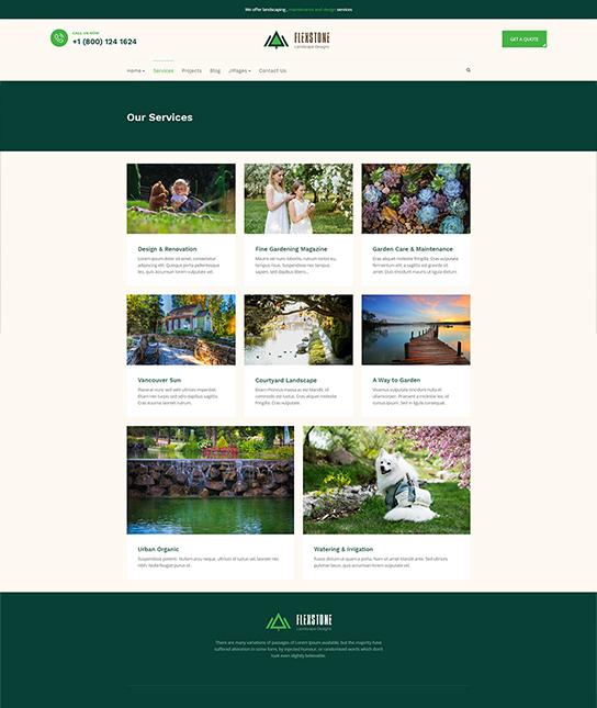 landscaping services joomla template - JA Landscape