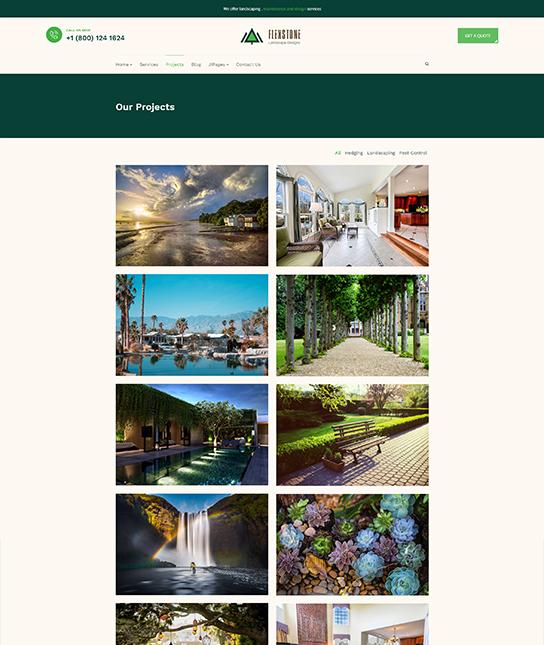 portfolio landscaping joomla template - JA Landscape