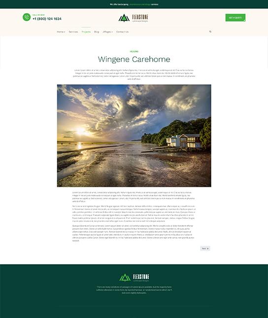 services landscaping joomla template - JA Landscape