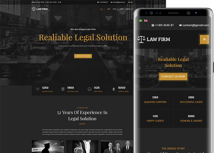 lawyer and business joomla template
