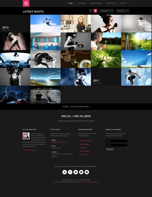 magazine template page - JA Lens