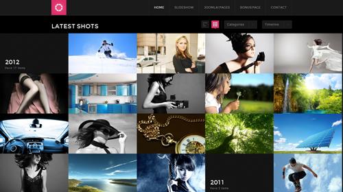 JA Lens - Portfolio Joomla Template