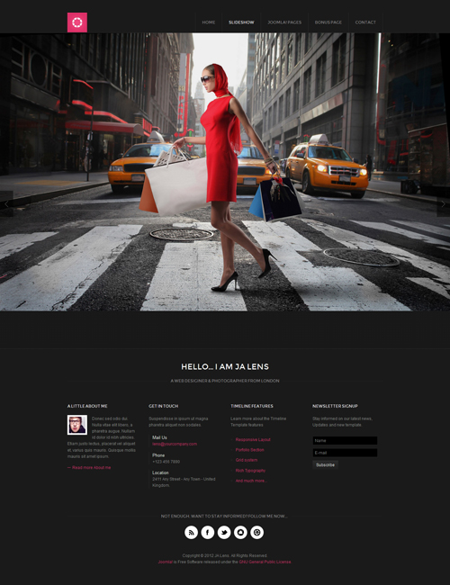 magazine joomla template slideshow - JA Lens