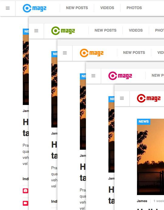 Multiple themes -  JA Magz news and magazine Joomla template