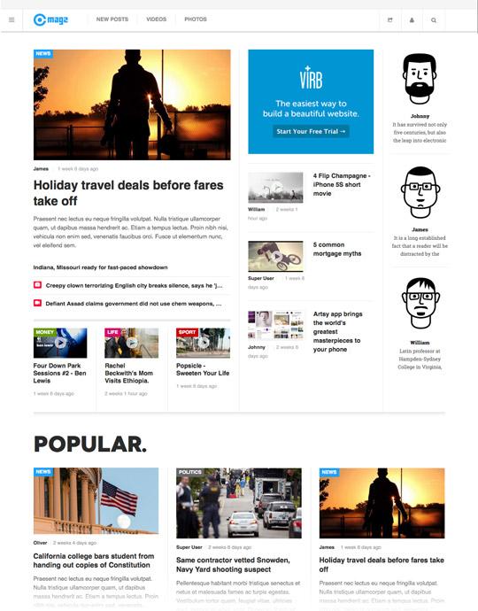 Joomla template for news and magazine websites - JA Magz