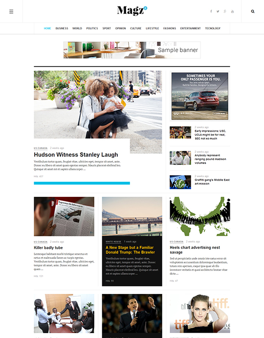 Joomla template for news and magazine websites - JA Magz II