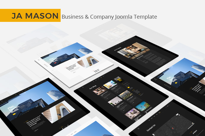 Review | Features : Best Joomla template for Company and Business website: JA Mason