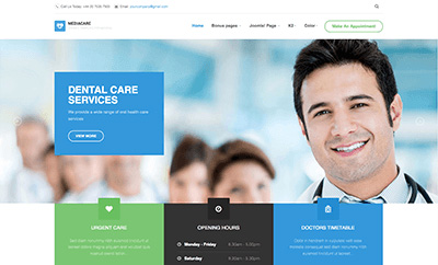 JA Medicare - Joomla Template for medicare and health care