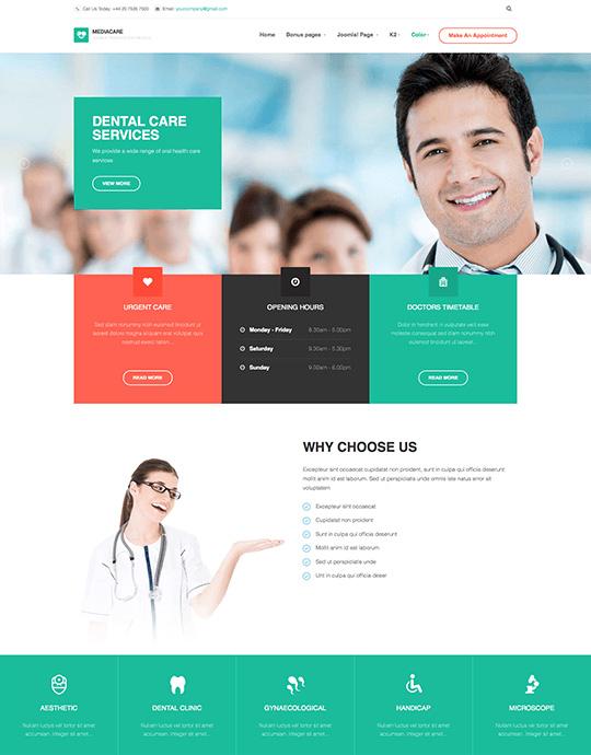 joomla template for health care and health care center - JA Medicare