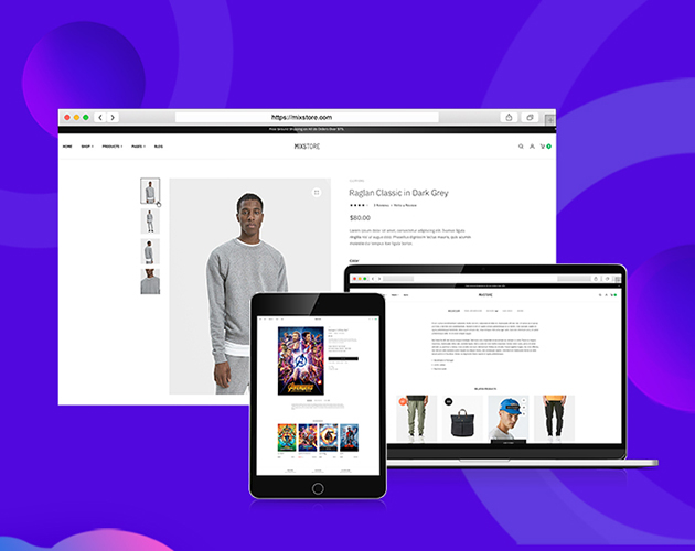JA Mixstore Beautiful designed product details pages