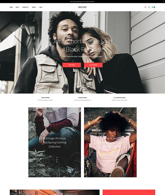 Multipurpose eCommerce joomla template for fashion - JA Mixstore