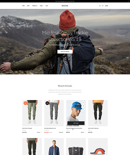 eCommerce joomla template for fashion - JA Mixstore