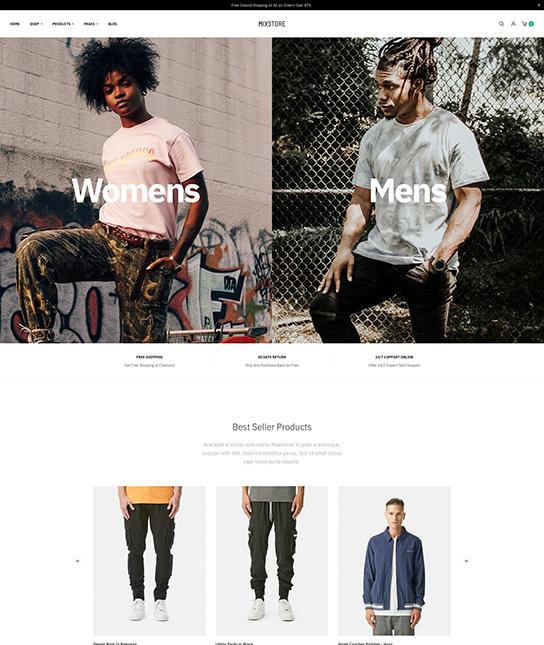 online shopping joomla template - JA Mixstore
