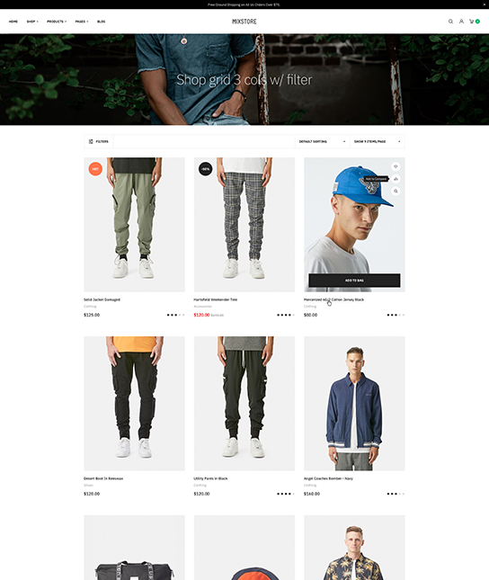 Multipurpose eCommerce joomla template for fashion - JA Mixstore