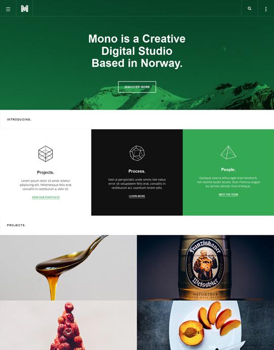 Green theme for blog Joomla template - JA Mono