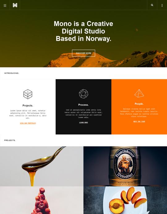 Orange theme for blog Joomla template - JA Mono