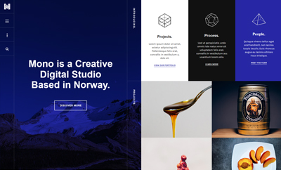 JA Mono - Responsive Joomla template for Creative Business