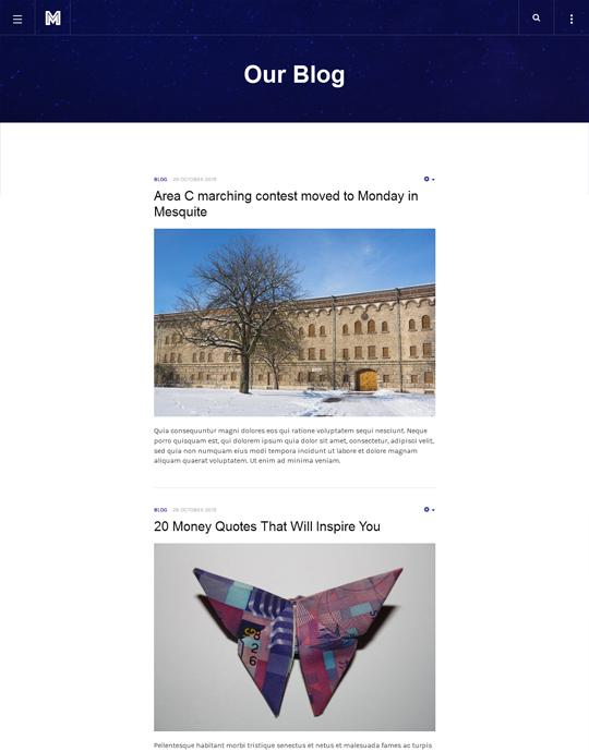 Responsive business Joomla template blog page - JA Mono