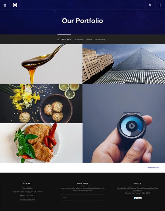 Portfolio page of business Joomla template - JA Mono