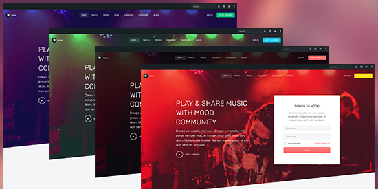 multiple theme color joomla template