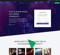 Community Social Network Joomla template - JA Mood