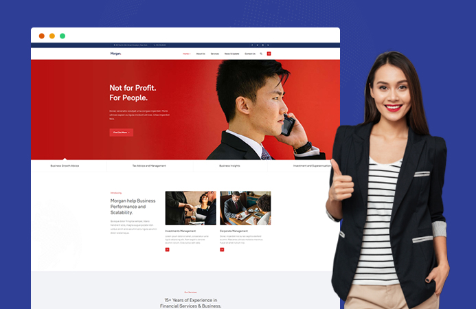 Multipurpose business Joomla template : JA Morgan