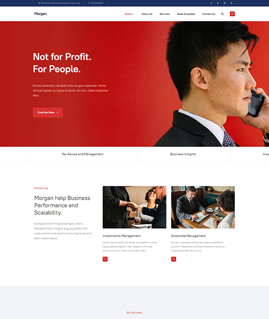 Multipurpose joomla template for business - JA Morgan
