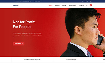 Multipurpose Business Joomla Template - JA Morgan