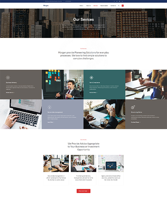 service page joomla template for business - JA Morgan