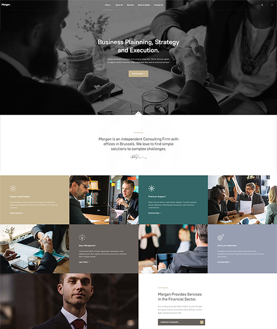 corporate joomla template - JA Morgan