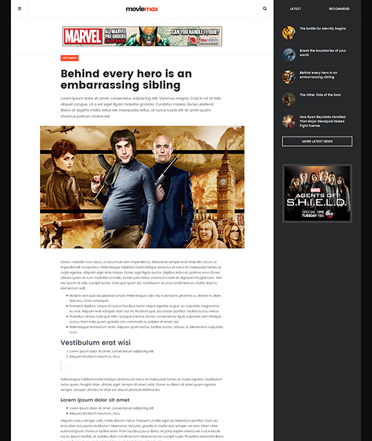 Movie Multimedia News Magazine Joomla Template homepage news detail layout - JA Moviemax