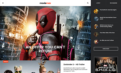Movies news magazine Joomla template - JA Moviemax