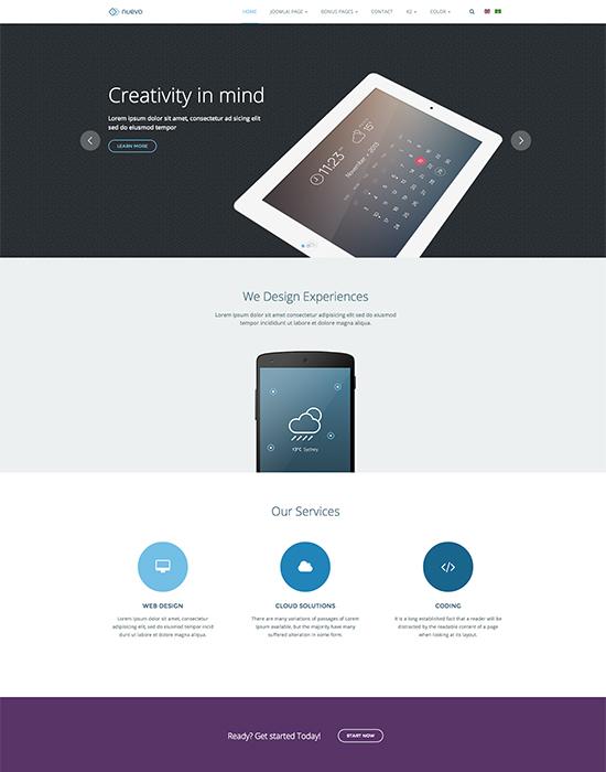 Joomla template for app and service landing page - JA Nuevo
