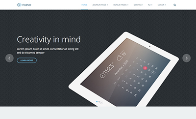 JA Nuevo - Responsive Joomla Template For App and Services