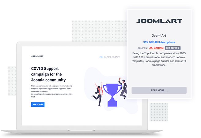 A product from COVID Support campaign for the Joomla community