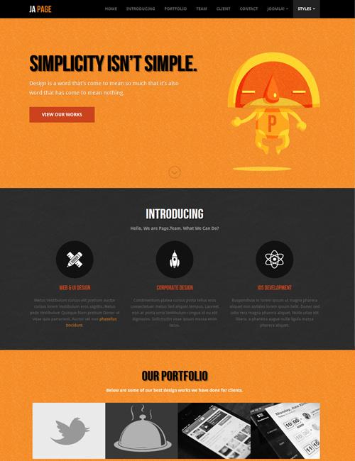 Joomla one page Joomla template - JA Onepage