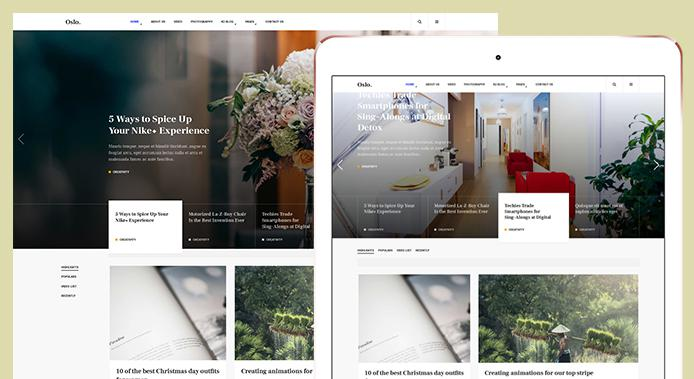 new and magazine joomla template