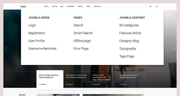 Support all joomla pages
